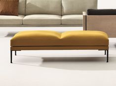 Contemporary upholstered bench / leather / fabric / by Jean-Marie Massaud STEEVE Arper Upholstered Bench Seat, Bench Furniture, Ottoman Bench, Furniture Design, End Of Bed Bench, Living Room Sofa Design, Jean Marie, Bench Designs, Cool House Designs