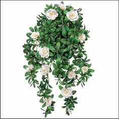 "Outdoor Artificial Cream Azalea 34"" Hanging Vine $39.85"