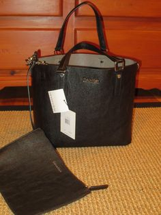 846b84f122 CALVIN KLEIN TOTE SHOPPER HANDBAG REVERSIBLE BLACK   GRAY CLUTCH  158 TAG   CalvinKlein  TotesShoppers