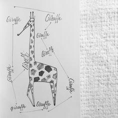#practice #lettering #sketch #giraffe