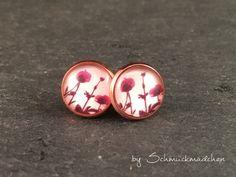Ohrringe Stecker Rosegold Mohnblumen