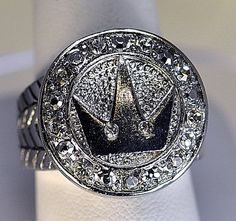 Kingdom Hearts Crown Solid Heavy Sterling Silver Ring