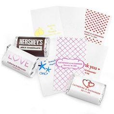 Personalized Metallic Mini Chocolate Labels