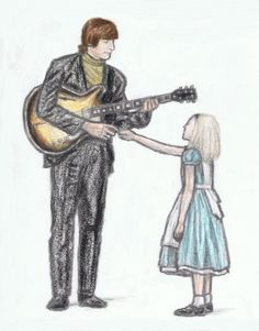 John Lennon shaking hands with Alice by gagambo on DeviantArt