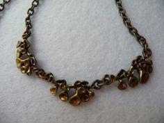 Hannu Ikonen necklace bronze (Finland). Width: 1 cm. Length: 49.5 cm Pattern length: 9 cm.