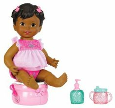Little Mommy Princess and The Potty African-American Doll by Mattel. $21.99. The perfect potty training baby doll every girl will love. Features realistic silly sounds and giggly phrases. Includes doll, potty, sparkly sippy cup, and hand sanitizer accessories for complete play. It's time to celebrate a major milestone-Potty Training. Doll gives girls nurturing, role-play and make-believe fun. From the Manufacturer                Little Mommy Princess and the Potty ...
