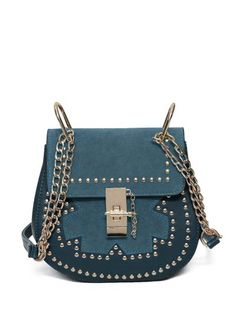 SHARE & Get it FREE | Suede Spliced Chains Rivet Saddle BagFor Fashion Lovers only:80,000+ Items • New Arrivals Daily Join Zaful: Get YOUR $50 NOW!