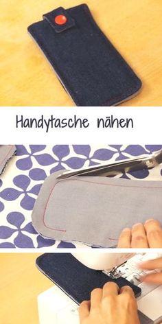 Neue Handytasche gesucht? Hier gibt's eine einfache Anleitung: http://www.gofeminin.de/schwangerschaft-video/handytasche-selber-naehen-n233581.html  #diy