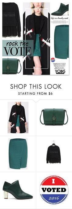 """Rock The Vote with Yoins.com"" by serepunky ❤ liked on Polyvore"