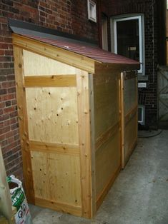 Small Storage Shed With Sliding Door   Contemporary   Exterior   Toronto    Lipa Woodwork