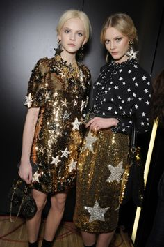 autumn winter 2011 stars trend: Dolce & Gabbana star sequin dresses and skirts backstage Star Fashion, High Fashion, Fiestas Party, Edgy Chic, Pinterest Fashion, Beautiful Gowns, Dress Me Up, Chic Outfits, Casual