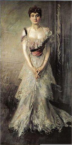 La Infanta Eulalia de Borbón retratada por Giovanni Boldini. La infanta Eulalia nació en el Palacio Real de Madrid en 1864; era la hija menor de la reina Isabel II y del rey consorte don Francisco de Asis de Borbón, aunque su verdadera paternidad ha sido disputada.