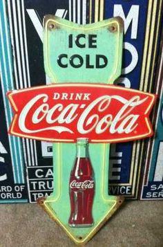 Vintage Coca-Cola sign: