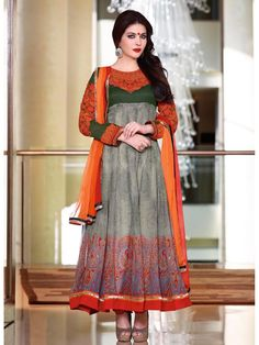 111ea72ccfe5 Graceful Grey coloured Pure Georgette Salwar Kameez - Buy Online Wear  dynamic and young style gorgeous