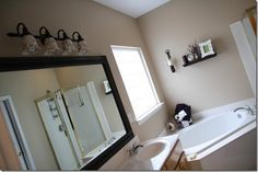 How to frame out a bathroom mirror