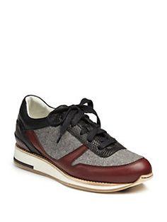 Lanvin - Leather & Felt Sneakers