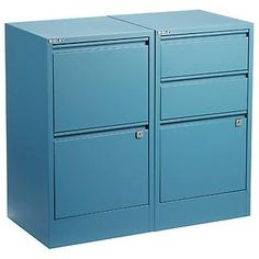 Blue Bisley 2- & 3-Drawer File Cabinets