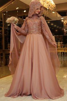 Pınar Şems - İnci  Abiye Mercan Wedding Hijab Styles, Muslim Wedding Dresses, Designer Wedding Dresses, Bridal Dresses, Modest Dresses, Stylish Dresses, Fashion Dresses, Hijabi Gowns, Malay Wedding Dress