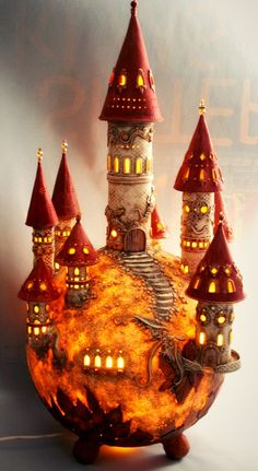 DreamWorld Lamp by BARBARA DREAMS | Polymer Clay Planet, amazing!