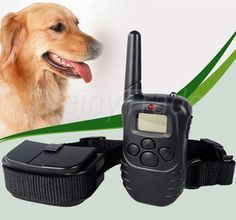 LCD 100LV Level Shock Vibra Remote Pet Dog Training Collar For 10lb-130lb  On big sale now