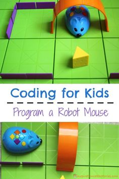 Programming a robot mouse is a great introduction to coding for kids.