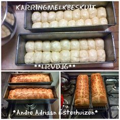 Stien Rust Karringmelkbeskuit (Ma Joyce) 3 pakke SR meel kg) koppie suiker 3 eiers 500 gr smeer 1 teelepel koeksoda 1 tee. Rusk Recipe, Kos, Healthy Breakfast Snacks, Healthy Food, Ma Baker, Good Food, Yummy Food, South African Recipes, Sweet Recipes