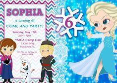 Frozen 5x7 digital invitation by Pattycakespapers on Etsy, $10.00