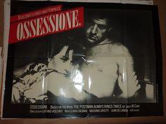 UK Quad, OSSESSIONE, ofr uk rerelease in 80s.  Director: Luchino Visconti. Stars: Clara Calamai, Massimo Girotti, Dhia Cristiani |