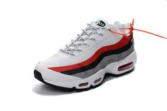 huge discount 1e34e 29fe1 How To Buy 2018 Nike Air Max 95 ID KUP MENS SHOES WHITE RED BLACK Nike
