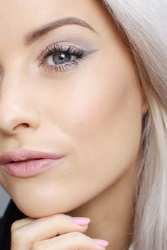 A close up of my subtle make up look using the new Dior spring collection