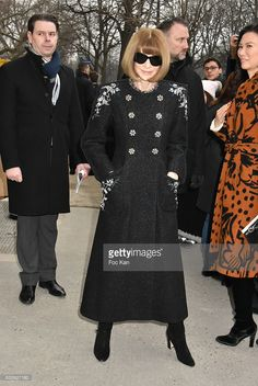 Anna Wintour attends the Chanel Haute Couture Spring Summer 2017 show as part of Paris Fashion Week on January 24, 2017 in Paris, France.