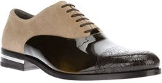 Versace Patent Panel Oxford in Black for Men $766