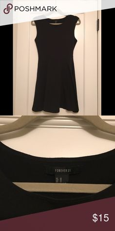 Black Skater Dress stretchy jersey material, very comfortable, clean lines, little black dress Forever 21 Dresses Mini