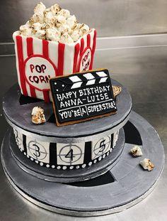Movie Popcorn Two Tier Cake!