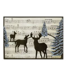 Sizzix Thinlits Winter Deer Card Die