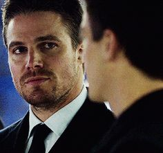 The look he gives Barry...Jealous much?!
