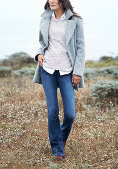 Fall calls for tone-on-tone layering, structured coats & the perfect pair of jeans. Layer a casual knit over a crisp button-up and bootcut jeans for an easy work-to-weekend look. Liven up your fall wardrobe with on-trend clothing and accessories, hand-selected just for you by your Stitch Fix Stylist.
