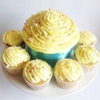 Lemon Giant Cupcake by missnattiescupcakes.co.uk