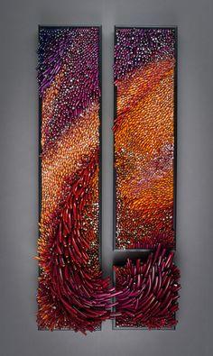 "Shayna Leib's amazing glass sculpture ""Eleuthera"" 2010 14""h x 30""w x 6""deep overall http://www.shaynaleib.com"