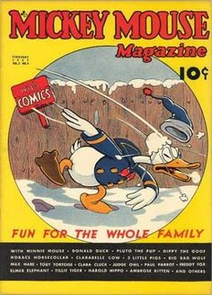 February 1937 - Mickey Mouse Magazine: Donald Duck cover