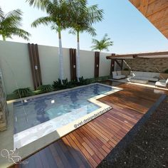 Like everything around us, the concept of the swimming pool design too is undergoing major changes. From being a rectangular pool of water it has evolved into a style statement. A swimming pool in the house is an extension of… Continue Reading → Small Backyard Pools, Backyard Pool Designs, Small Pools, Swimming Pools Backyard, Swimming Pool Designs, Backyard Patio, Outdoor Pool, Backyard Landscaping, Moderne Pools