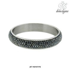 Divine Elegance Stainless Steel Bangle Made with Swarovski Elements - Assorted Colors at 91% Savings off Retail!