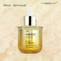 1.	Mango seed heart volume radiance face oil:Contains 95.5% natural botanical oils.  Formulated with highly concentrated GMO Free mango seed oils and eco-certified botanical oils with seven free system (No paraben, bezophenone ,alchol.dent, sulfate, triethanolamine, synthetic dye, animal source ingredient)  #thefaceshop #thefaceshopco #Natural #Beauty #Organic #Korea #cosmetic #makeup #Mango #moisture #dry #skincare #Noparaven #nobenzophenone #Noalchol #nosulfate