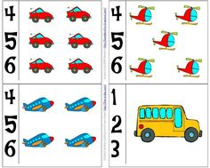 Number cards to use along with a preschool transportation theme - includes free printables