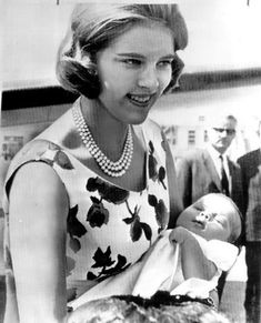 thegreekroyals:  Queen Anne-Marie with Princess Alexia, 1965