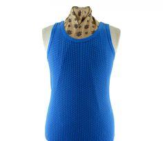 "70s Retro Blue Vest #vintagefashion #vintage #retro #vintageclothing #70s #1970s #vintageshirts <link rel=""canonical"" href=""http://www.blue17.co.uk/>"
