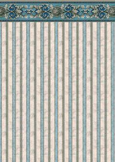 1//24th Scale Dolls House Pale Blue Cushions White Stripes