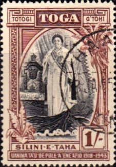 Tonga 1944 Queen Salote Silver Jubilee SG 87 Fine Scott 86 Other Tonga Stamps HERE £1.60