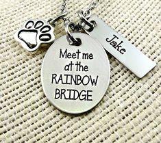Pet Memorial - My Angel Has Paws - Remembrance - Pet Bracelet or PetNecklace - Personalized Pet Necklace - Memorial Bracelet for Pets Pet Memorial Jewelry, Cat Memorial, Dog Necklace, Engraved Necklace, Rainbow Bridge Dog, Pet Name Tags, Pet Remembrance, Pet Loss, Stamped Jewelry