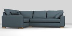 Buy Sonoma III Corner sofa - left hand (4 seats) Belgian Soft Twill Navy Square Angle - Light from the Next UK online shop